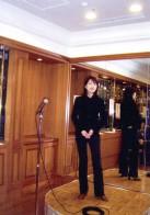 姫井由美子氏を囲む会 司会と歌の演奏  銀座東武ホテル・東京 2009.1.28